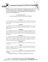 Reglamento Disciplinario FEDEFUT