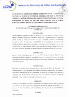 Reglamento del Tribunal de Arbitraje Deportivo de la FEDEFUT
